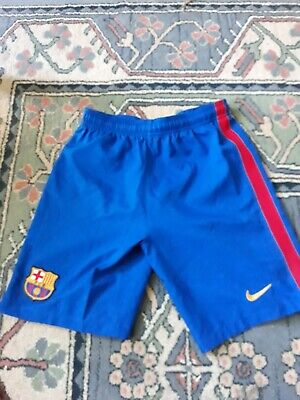 NIKE BARCELONA Home Football Shorts Blue Youth Boys Girls XL Age 12-13 Years