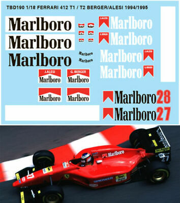 1/18 Ferrari 412 T1 / T2 F1 Decals G.berger J.alesi Decals Tb Decal Tbd190
