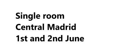 Single ensuite room in Central Madrid For Champions League Final. Madrid hotel
