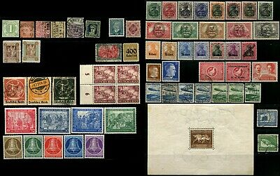 GERMANY Deutsche Airmail Occupation Stamps Blocks Postage Collection Mint Used