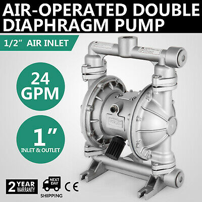 Air-Operated Double Diaphragm Pump 1in. Inlet&Outlet 24 GPM Double Diaphragm