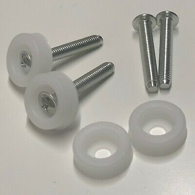 4 HEADBOARD FIXINGS BOLTS COMPLETE PLASTIC WASHER HEADBOARD UNIVERSAL SCREW PACK