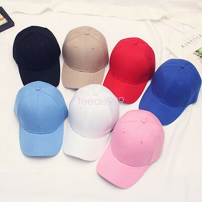 NEW Men Women Caps Summer Baseball Cap Plain Solid Sport Visor Sun Golf Ball Hat