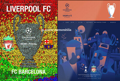 Liverpool FC - UEFA Champions League Semi-Final & Final Programme - L@@K.  WOW.