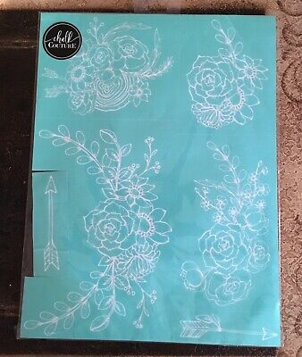 NIP Chalk Couture Boho Florals transfer, arrows, floral swags,brand new