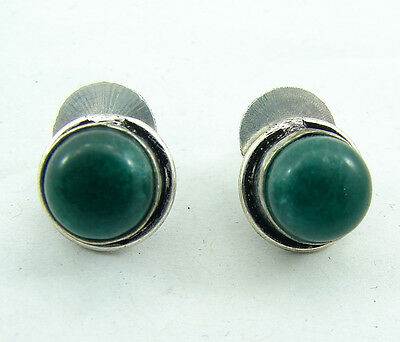 925 Silver plated Green  stone antique ethnic Indian Tops 1147