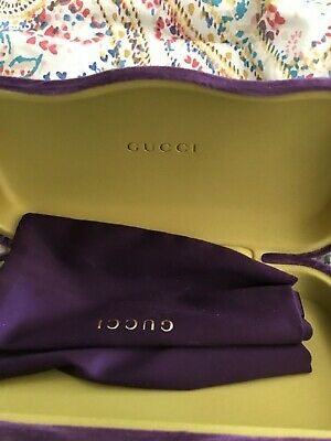 Gucci authentic purple velvet sunglass case with cleaning cloth, brand new
