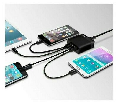 Philips 4 Port USB Fast Charger Universal Smart Multi-Charge Mobile Phone Tablet
