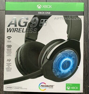PDP Afterglow AG 9 + Black Wireless Headsets for Microsoft Xbox BRAND NEW