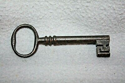Antique Cast Iron Barrel Key Skeleton Door Church Jail Prison Castle, Gate # 6
