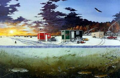 Donald Blakney Ice Castle on Mille Lacs Lake Print