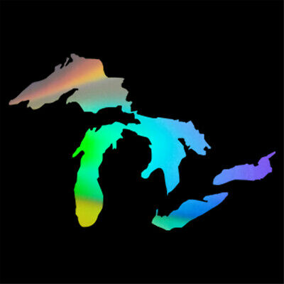 Michigan Great Lakes State Map Car Window Wall Stickers Vinyl Decal Removable