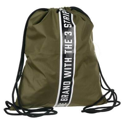 b508fd6e6 adidas Originals Drawstring Backpack With Taping In Green AY9001 BRAND NEW