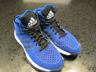 e90f85ca9a8 ADIDAS Mid Men s Basketball Shoes SIZE 8 Mens Blue Black High Tops Athletic   80