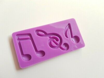 1 x Silicone Craft Mould - 8cm - Musical Notes