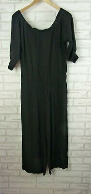 SEED HERITAGE Playsuit Sz 10 Black Off-Shoulder