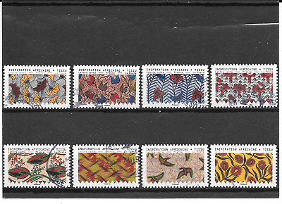 France 2019.Inspiration Africaine. Lot De 8 Timbres Autoadhesifs Cachets Ronds