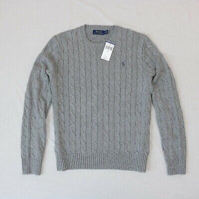 Polo Ralph Lauren Men Cable-knit long sleeve Sweater size Small new with tag