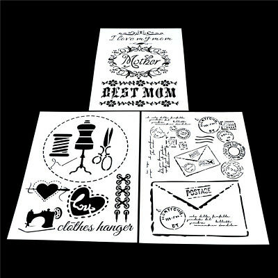 craft layering stencils template for walls painting scrapbooking stamping new YE
