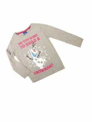 Disney Frozen Olaf Girls Long Sleeved Top Ages 2 3 4 5 6 7 8 NEW SALE!