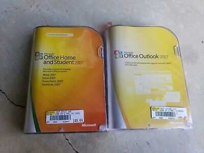 Microsoft 2007 Office Home And Student Office Outlook