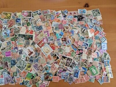 1000 + WW Used & Mint off Paper Stamps From a Large Accumulation  FREE SHIPPING