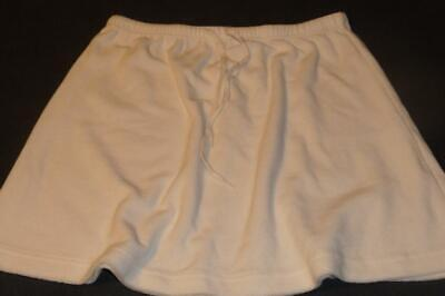 b75a9570c0165 NORDSTROM Swimsuit Cover-up Skirt ~ $39 Size MED White Terry Cloth Pull-On