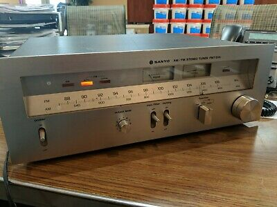 Vintage Sanyo FMT-611K AM/FM Stereo Tuner ~ Nice Condition Working