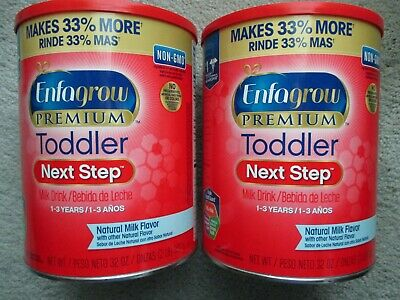 (2) Enfagrow Premium Toddler Next Step, Natural Milk Flavor - Powder Can - 32 oz