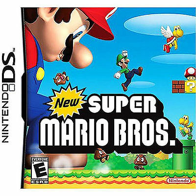 New Super Mario Bros. (Nintendo DS, 2006) with case and booklet