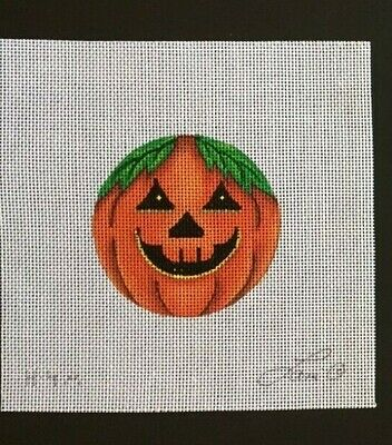 Lani Hand-painted Needlepoint Canvas Colorful Jack-o-lantern Ornament #1
