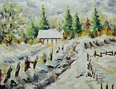 """Original Oil Painting by Listed Artist on Artist Canvas Board 11""""x14"""""""