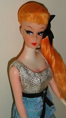 Vintage Barbie Clone HTF Stunning Redhair Ponytail Clone Romantic Ruffles Dress