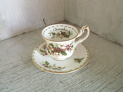Royal Albert Flower of the Month December Christmas Rose MINIATURE Cup & Saucer