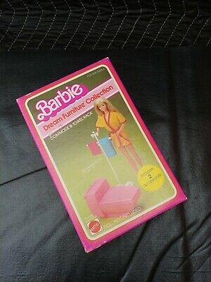 VINTAGE 1982 Barbie Dream Furniture Collection Commode and Towel Rack #1045