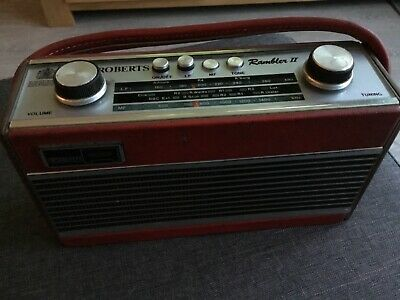 Vintage Roberts Retro Rambler Radio II Red WORKING