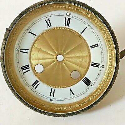 Embossed Antique Clock Face, Bezel And Glass