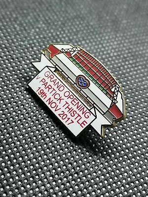 Hearts fc stand grand opening v Patrick thistle pin badge Midlothian