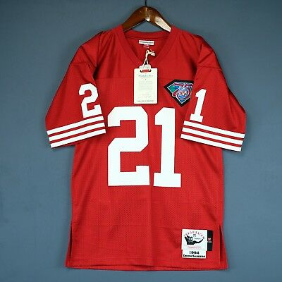 ecb9a78fd41 100% Authentic Deion Sanders Mitchell & Ness 49ers NFL Jersey Size Mens 48  XL