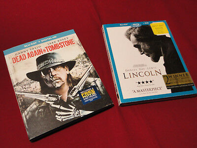 Dead Again in Tombstone & Lincoln Blu Ray New!