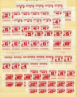 Weeda Canada J21//J36 MNH plate blocks, 1st & 2nd Postage Due Red issues CV $130