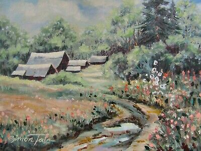 "Original Oil Painting by Listed Artist on Artist Canvas Board 12""x16"""