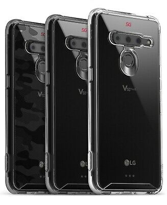 For LG V50 ThinQ | Ringke [FUSION] Clear Back Shockproof TPU Bumper Cover Case