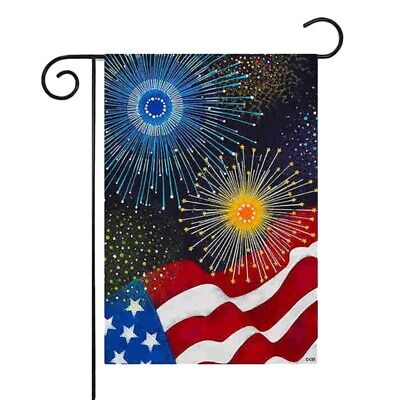 4th July Independence Day Patriot Garden Flag Banner 12x18 2-Sided Yard Decor US