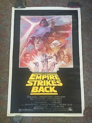 Original Star Wars Empire Strikes Back Poster 1981 Re-Release with Mailer