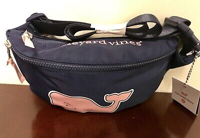 NWT New VINEYARD VINES for TARGET WHALE FANNY PACK Belt Bag Pouch Blue *IN HAND*