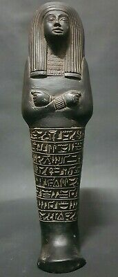 ANCIENT EGYPTIAN ANTIQUES HIEROGLYPHICS Statue Of Queen USHABTI Egypt Stone BC