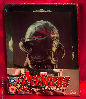 Avengers: Age Of Ultron Zavvi 3D & 2D Blu-Ray Steelbook + Avengers Art Carte
