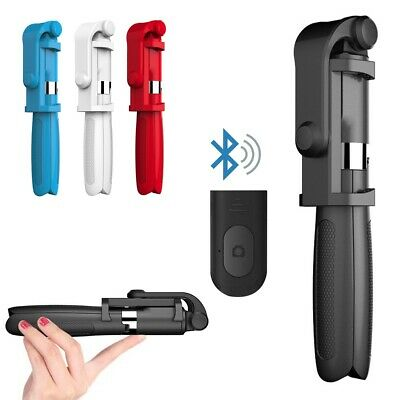 99ed307c14b801 Foldable Bluetooth Extendable Selfie Stick Tripod Remote 360° Clamp iOS  Android