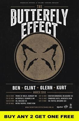 THE BUTTERFLY EFFECT 2018 Laminated Australian Tour Poster
